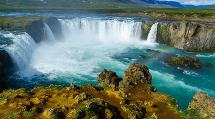 View of the Godafoss waterfall