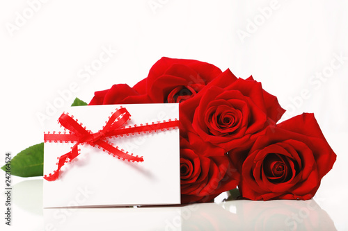 Foto Murales Valentine's Day concept theme with red roses