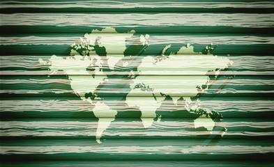 World map, background, texture, wooden background, blurred image