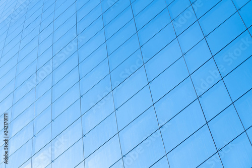 background of office building blue glass window