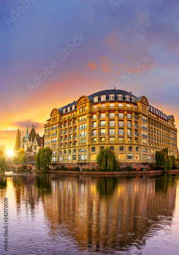 Leinwanddruck Bild area Strasbourg Alsace France