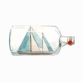 Watercolor ship in bottle vector illustration - 242171505