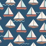 Watercolor marine vector pattern - 242171734