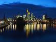 Frankfurt Skyline Abenddämmerung