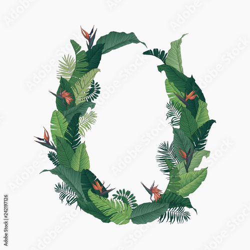 Tropical Wreath Circle
