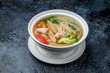 Seafood soup with noodles Chinese cuisine