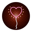 valentine day neon