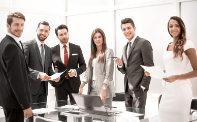 professional business team in the workplace