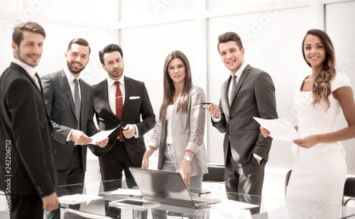 Leinwanddruck Bild professional business team in the workplace