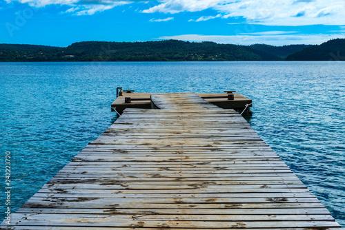 Acrylglas Pier Tropical Island Paradise