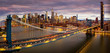 Panorama of Brooklyn bridge