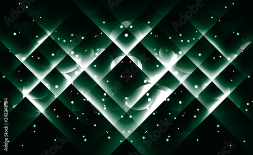 Background image with light green flares.