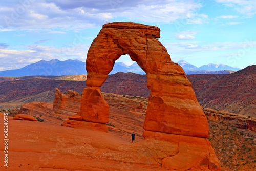 Beautiful Delicate arch at Arches National Park in Utah USA