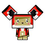 Adorably Cute Little Cartoon Block Fox Character