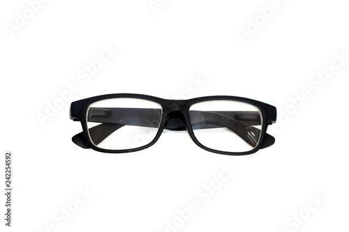 Leinwanddruck Bild Glasses isolated on white background