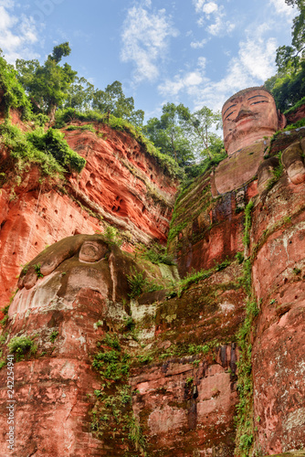 Bottom view of the Leshan Giant Buddha in China