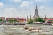 Beautiful view of Wat Arun Buddhist temple in Bangkok, Thailand