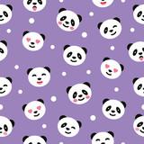 Seamless pattern with panda. Vector illustration. - 242255765