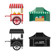 Vector design of market and exterior icon. Set of market and food stock symbol for web.