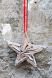 star-shaped decorative accessory handmade out of wood