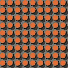 Abstract Retro Geometric seamless pattern, vivid colour background, geometry design element © botobox