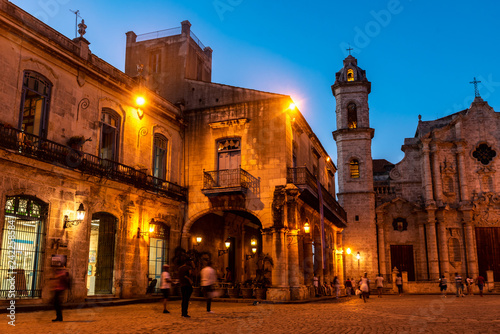 Leinwanddruck Bild Kathedrale in Havanna Kuba