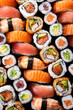 Japanese sushi collection