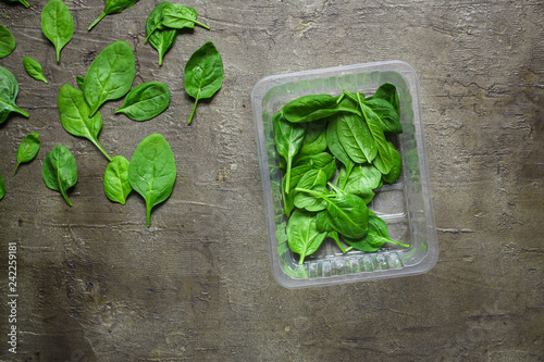 spinach (green grass). top food background