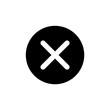 Close button vector icon