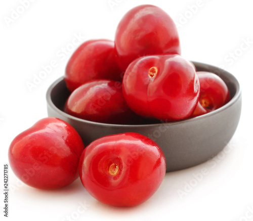 Fresh cherry in a bowl