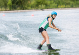 Fototapeta Łazienka - Frau beim Wassersport © photowahn
