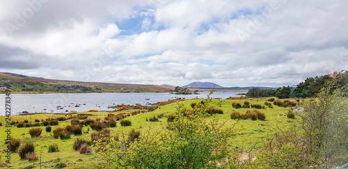 Leinwanddruck Bild waterside scenery in Connemara