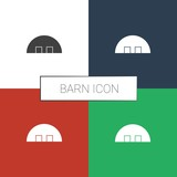 barn icon white background - 242284362