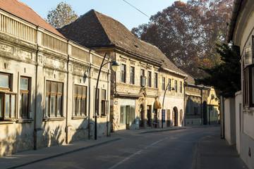 Panorama of center of town of Srijemski Karlovci, Vojvodina, Serbia