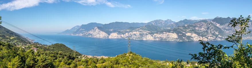 Beautiful view from mountain Monte Baldo, lake and nature © Patrick Daxenbichler