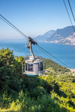 Cable car on a beautiful summer day, landscape monte baldo, lago di garda