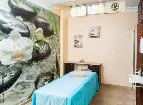 Modern room for massage, manual therapy and osteopathy.