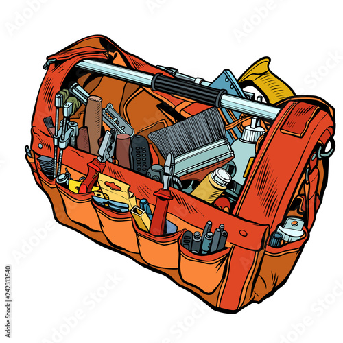 Bag with working tools