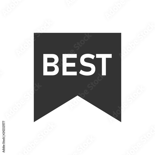 Best lettering text icon flat