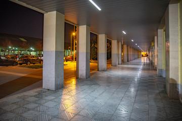 Valladolid ciudad histórica y cultural en España por la noche.