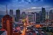 Leinwanddruck Bild - Manila evening