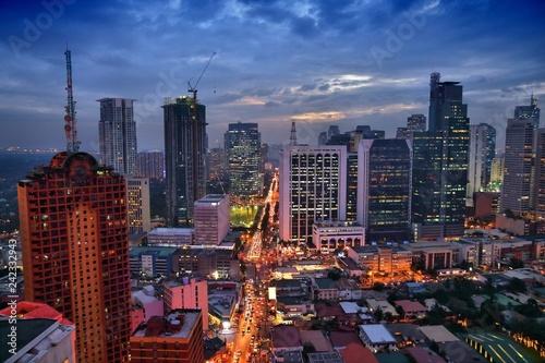Leinwanddruck Bild Manila evening