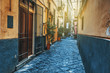 Narrow street in old town Sorrento