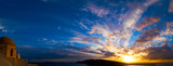 Panorama of Santorini during sunset