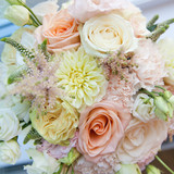 Beautiful bouquet of flowers close-up.