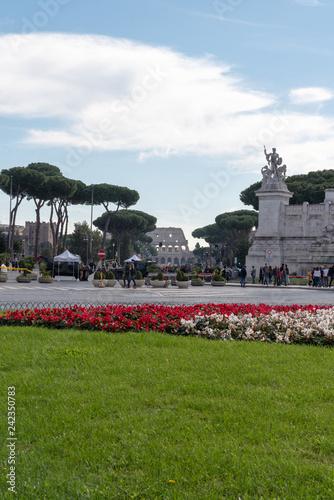 Piazza Venezia, Rome, Italy - 242350783