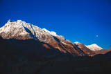 Himalayan mountains. Annapurna circuit trek. Nepal.