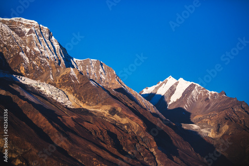 Himalayan mountains. Annapurna circuit trek. Nepal.