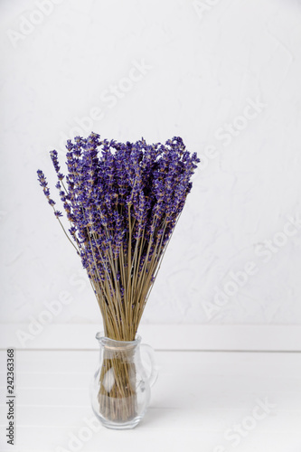 dried lavender with white background - 242363368