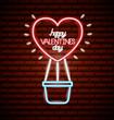 valentine day neon - 242364377